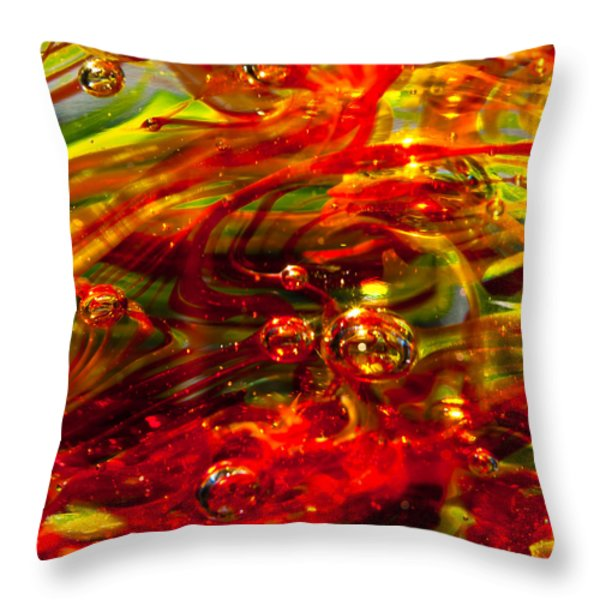 Molten Bubbles Throw Pillow by David Patterson