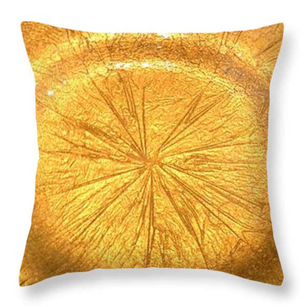 Molten Gold Bowl Sculpture Throw Pillow by Rick Silas