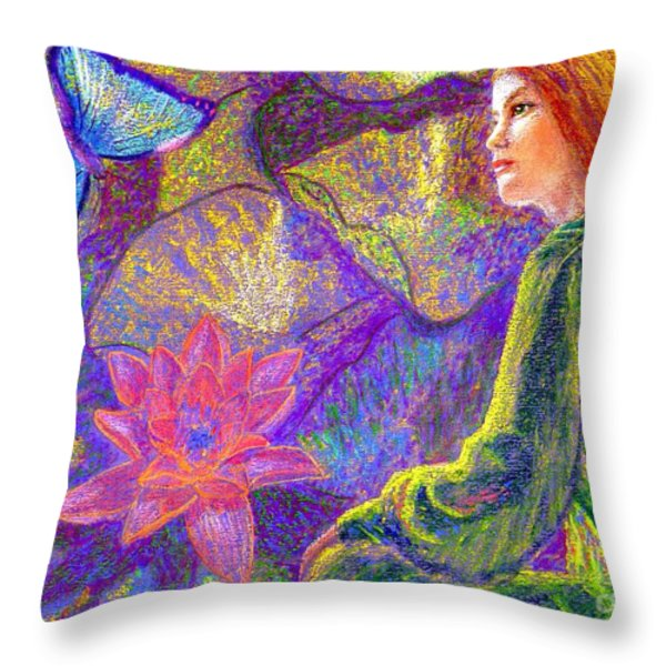 Moment of Oneness Throw Pillow by Jane Small
