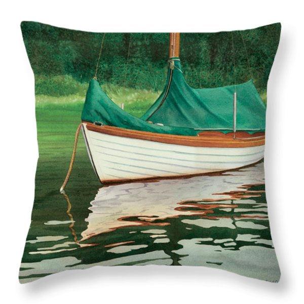 Moment of Reflection X Throw Pillow by Marguerite Chadwick-Juner