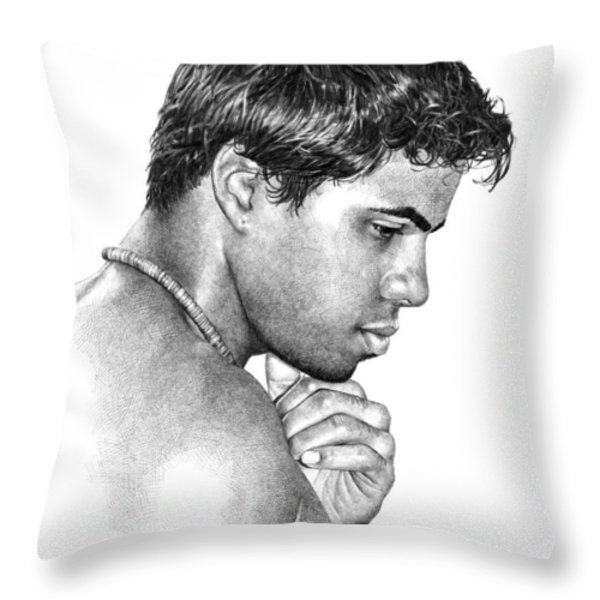 Moment with Marcus Throw Pillow by Douglas Simonson