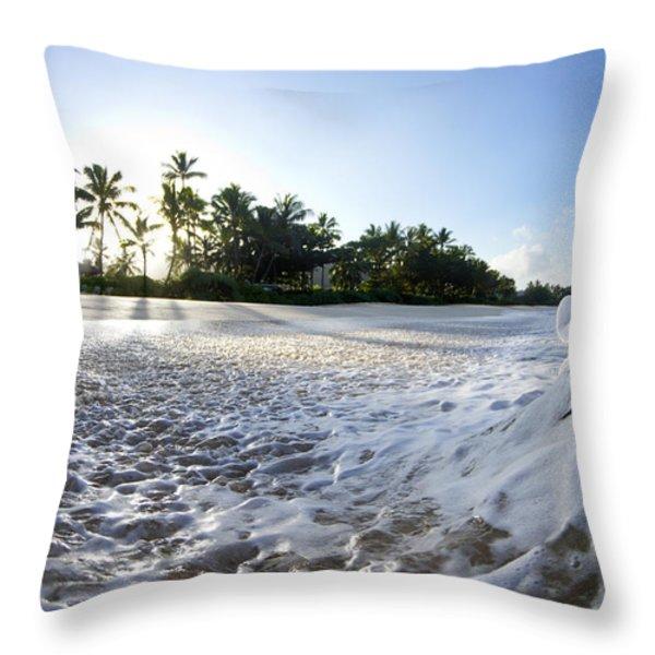 Momentary Foam Creation Throw Pillow by Sean Davey