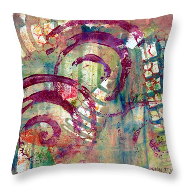 Moments Throw Pillow by Moon Stumpp