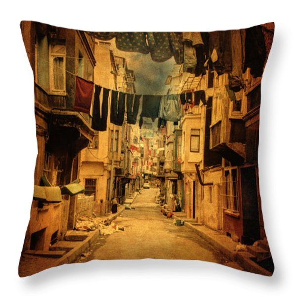 Mommy can i go out? Throw Pillow by Taylan Soyturk