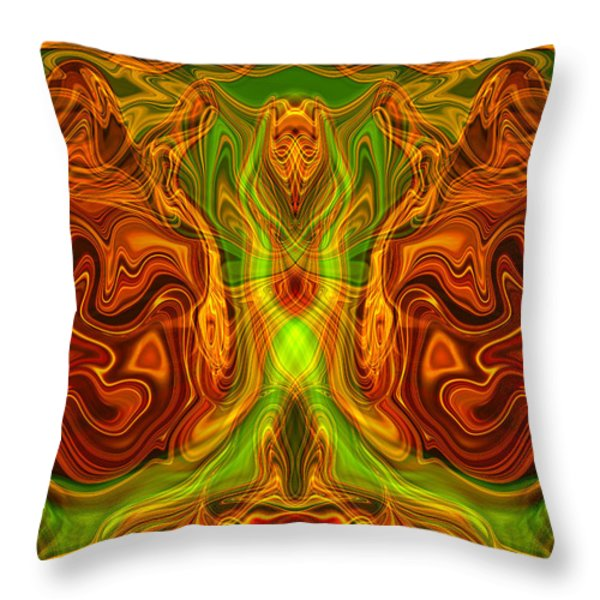 Monarch Butterfly Throw Pillow by Omaste Witkowski