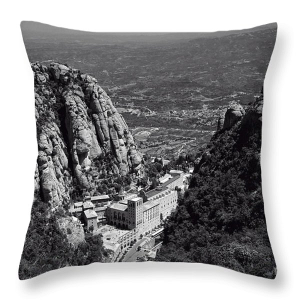 Monastery in the Valley Throw Pillow by Ivy Ho