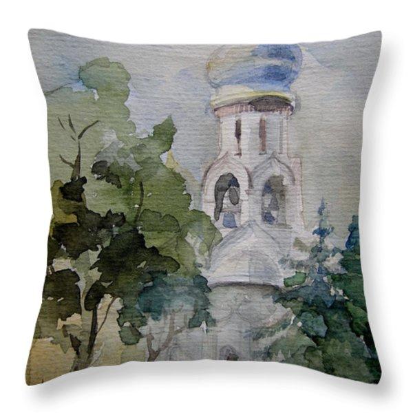 Monastery Throw Pillow by Khromykh Natalia