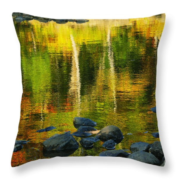 Monet Autumnal 02 Throw Pillow by Aimelle