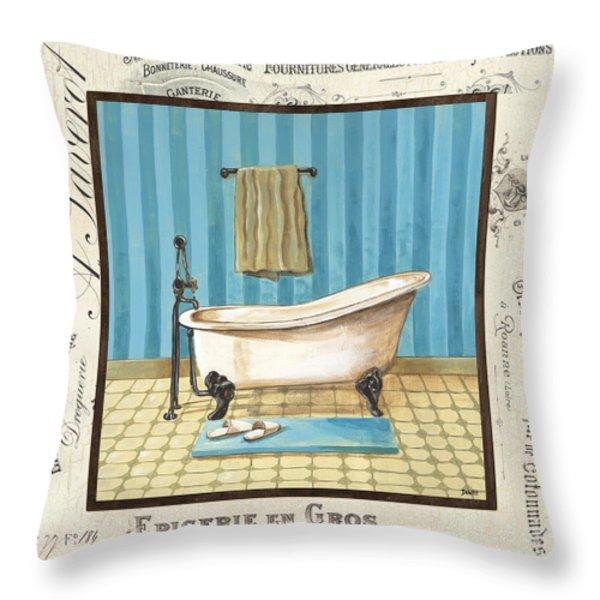 Monique Bath 1 Throw Pillow by Debbie DeWitt