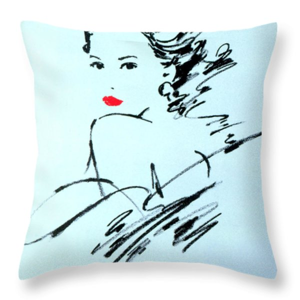 Monique Variant 2 Throw Pillow by GIANNELLI