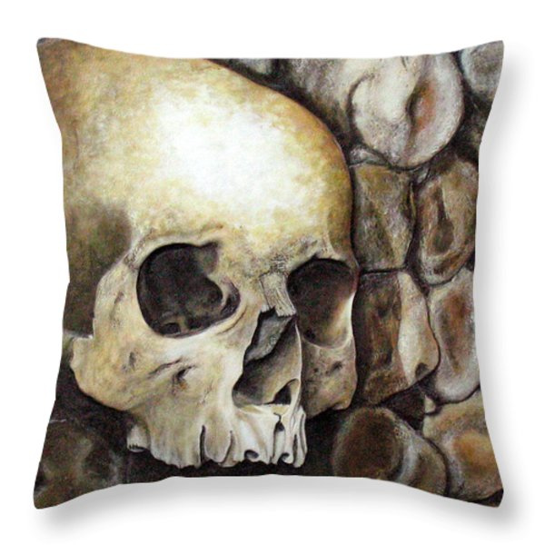 Monk Relic Throw Pillow by Elaine Booth-Kallweit