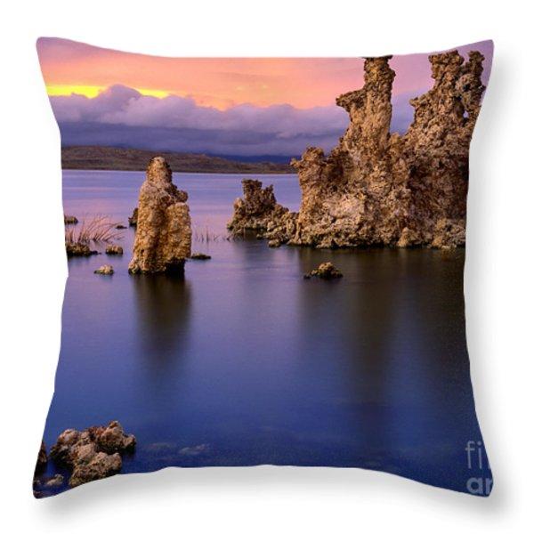 Mono Lake Afterglow Throw Pillow by Inge Johnsson