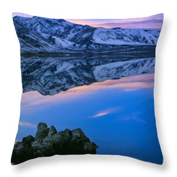 Mono Lake Twilight Throw Pillow by Inge Johnsson