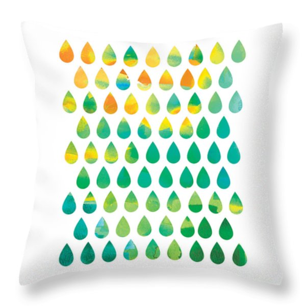 Monsoon Rain Throw Pillow by Budi Satria Kwan