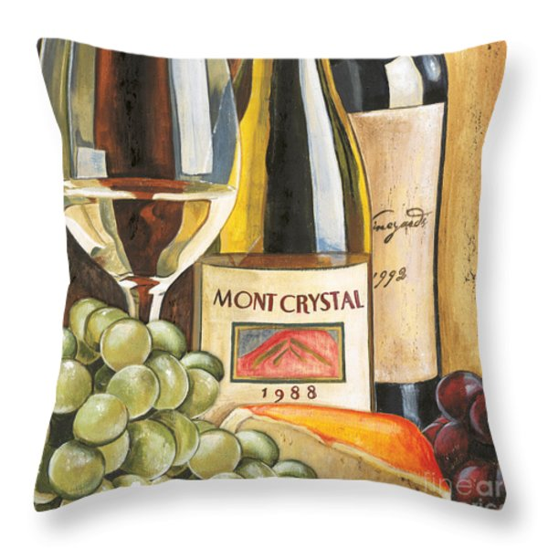 Mont Crystal 1988 Throw Pillow by Debbie DeWitt