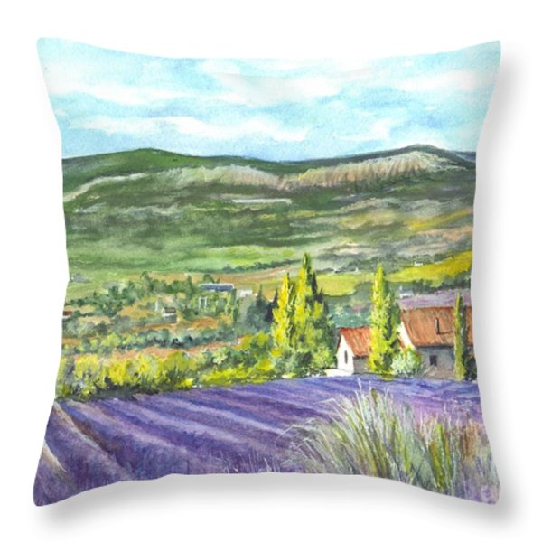 Montagne De Lure In Provence France Throw Pillow by Carol Wisniewski