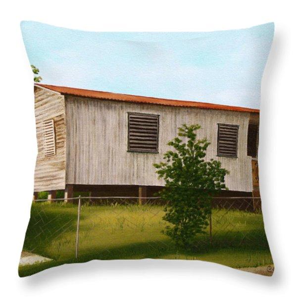Montalvo Family House - Puerto Rico Throw Pillow by Robin Capecci