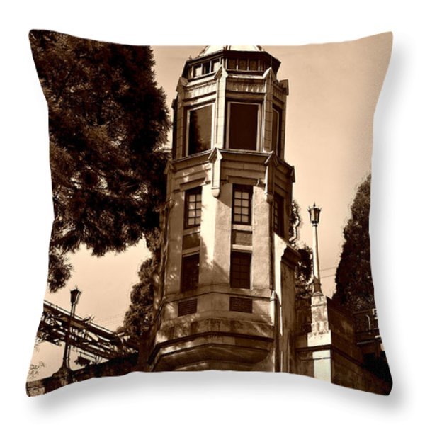 Montlake Bridge Throw Pillow by Cheryl Young