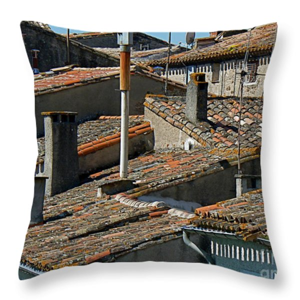 Tile Rooftops of France Throw Pillow by FRANCE  ART