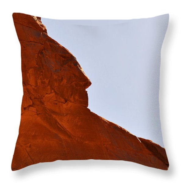 Monument Valley Indian Chief Throw Pillow by Christine Till