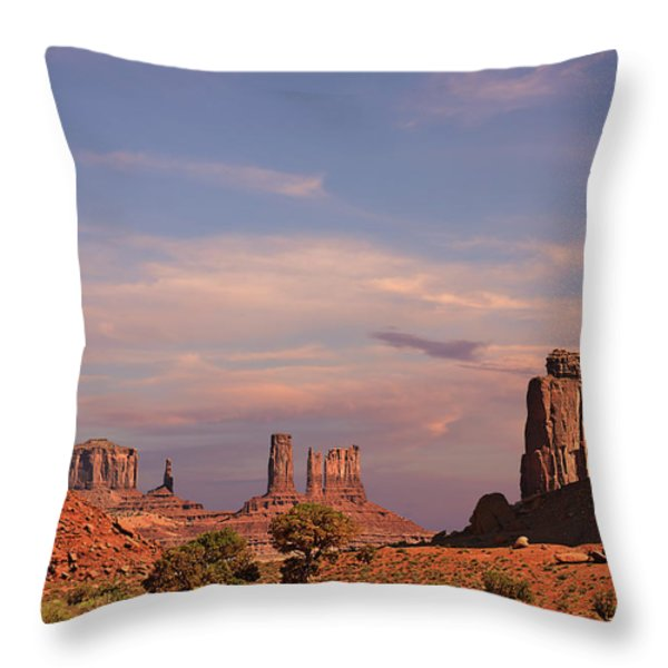 Monument Valley - Mars-like Terrain Throw Pillow by Christine Till