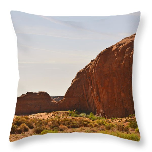 Monument Valley Sleeping Dragon Throw Pillow by Christine Till
