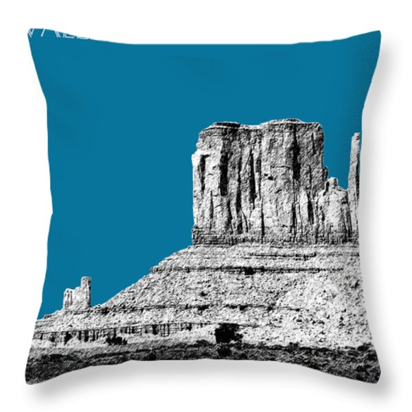Monument Valley - Steel Throw Pillow by DB Artist