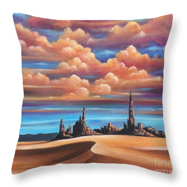 Monument Valley Throw Pillow by Susi Galloway