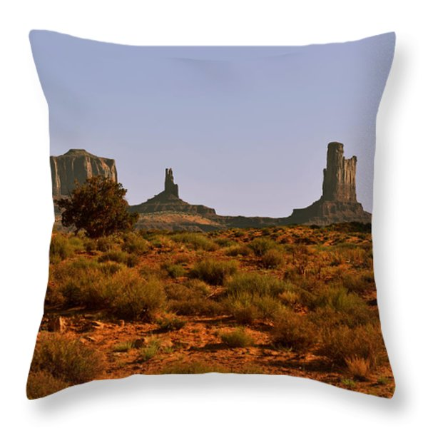 Monument Valley - Unusual landscape Throw Pillow by Christine Till
