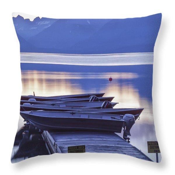 Mood Indigo Throw Pillow by Jon Glaser