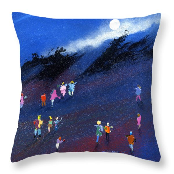 Moon Beam Search Throw Pillow by Neil McBride