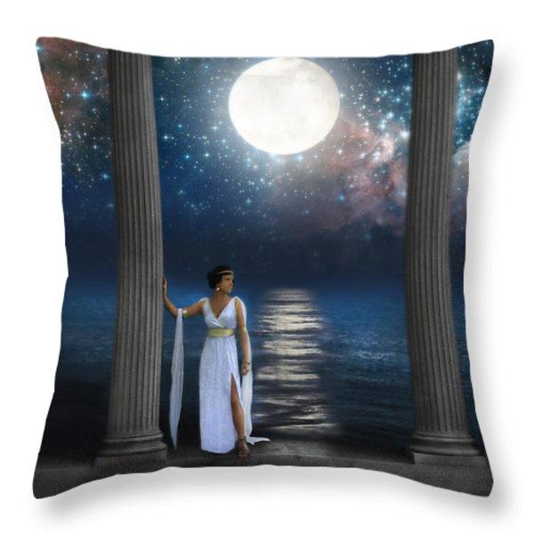 Moon Goddess Throw Pillow by Jill Battaglia