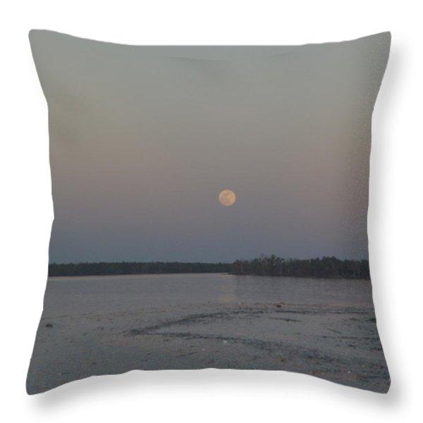 Moon Haze Throw Pillow by Robert Nickologianis