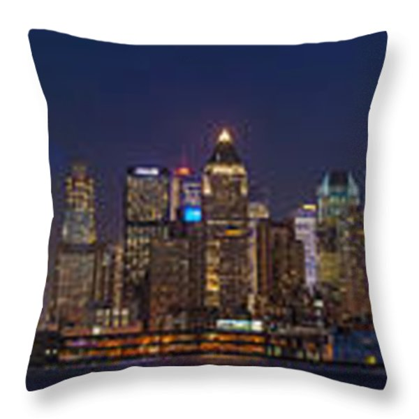 Moon Over Manhattan Throw Pillow by Mike Reid