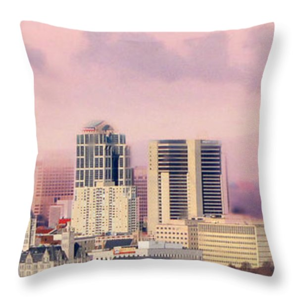 Moon Over Nashville Throw Pillow by Amy Tyler