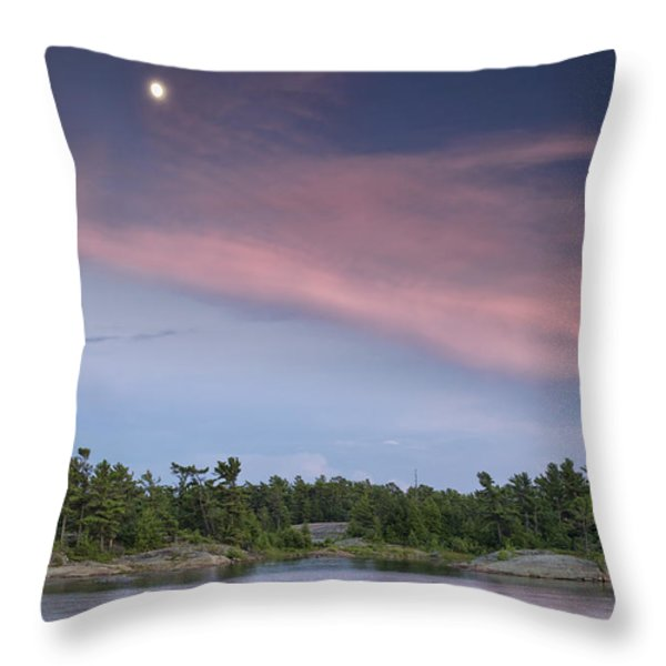 Moon Over The Bay Throw Pillow by Phill  Doherty