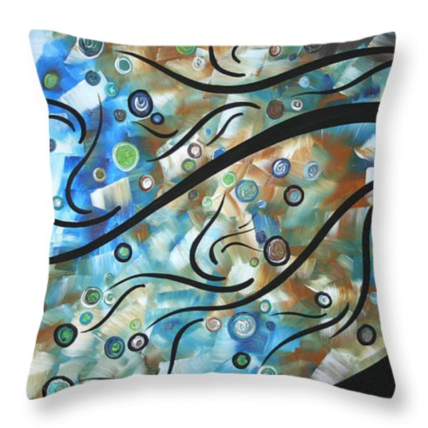 Moon Spell By Madart Throw Pillow by Megan Duncanson