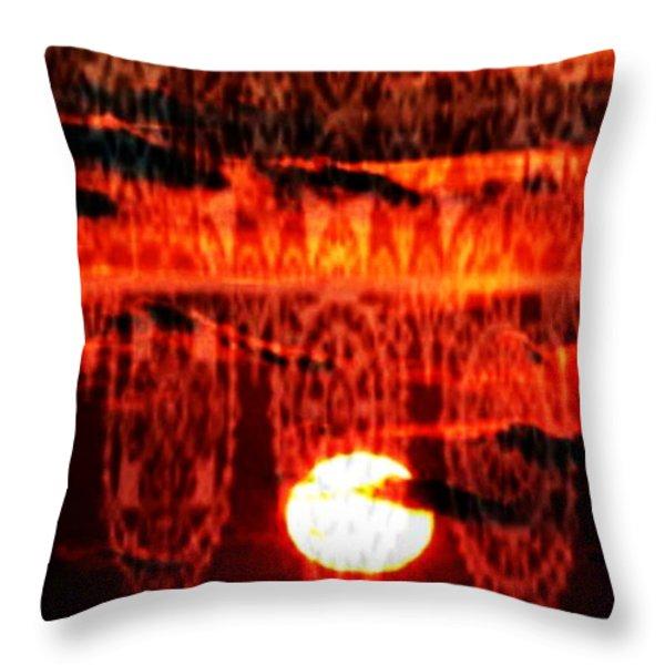 Moonlace Throw Pillow by PainterArtist FIN