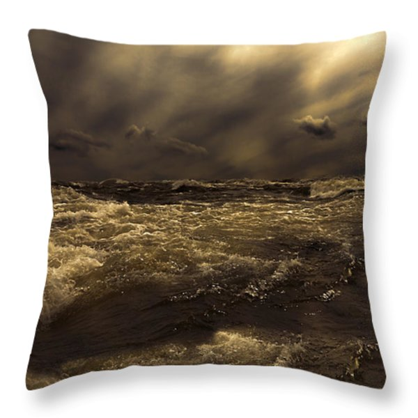 Moonlight On The Water Throw Pillow by Bob Orsillo