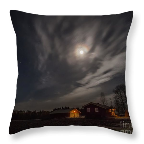 Moonlight Throw Pillow by Rose-Maries Pictures