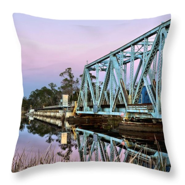 Moonrise over Milton Throw Pillow by JC Findley