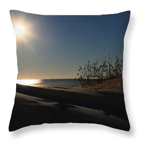 Moonrise Over the Dunes Throw Pillow by JC Findley
