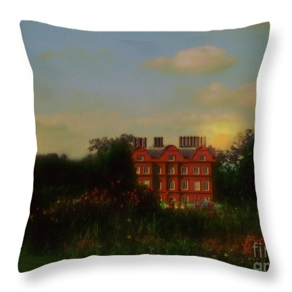 Moonrise - Sunset Throw Pillow by RC DeWinter