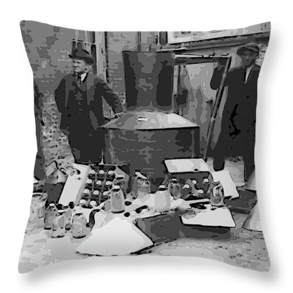 MOONSHINE STILL PROHIBITION 1922 Throw Pillow by Daniel Hagerman