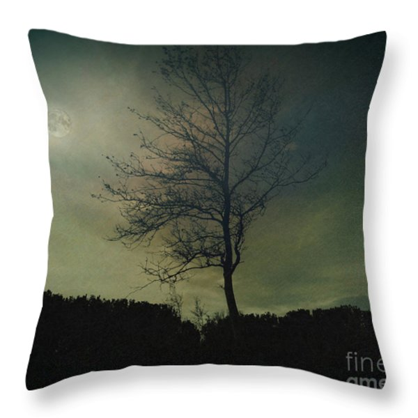 Moonspell Throw Pillow by Bedros Awak