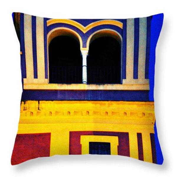 Moorish Seville Throw Pillow by Mary Machare