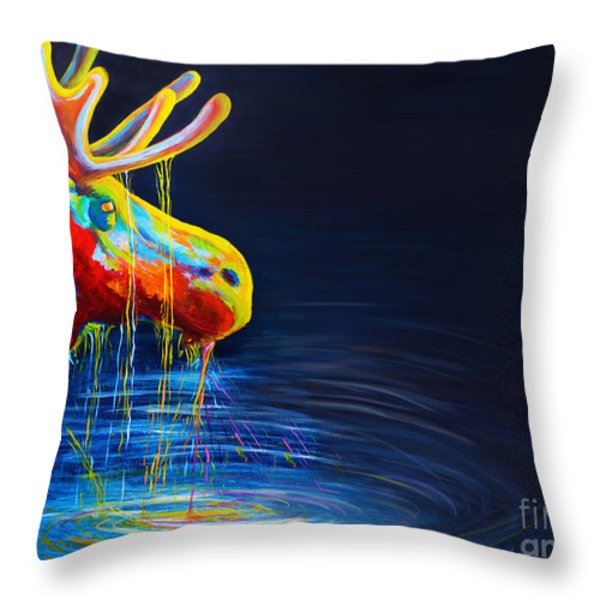 Moose Drool   Throw Pillow by Teshia Art