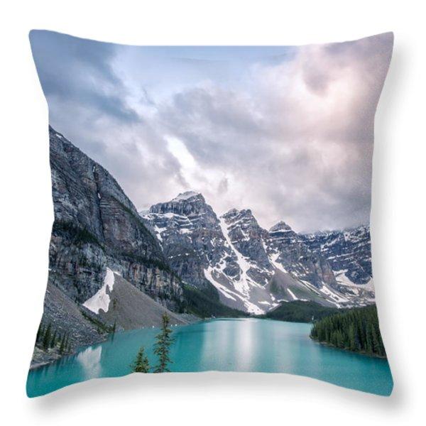 Moraine Cloud Burst Throw Pillow by Jon Glaser