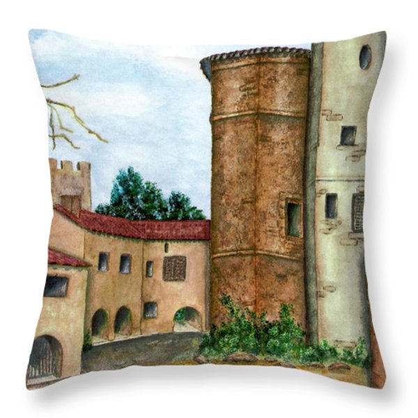 Morcone  Throw Pillow by Pamela Allegretto