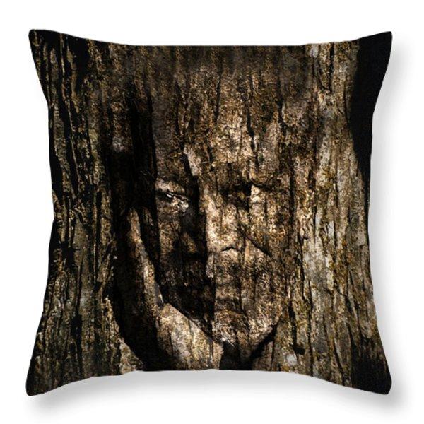 Morgan Freeman Roots digital painting Throw Pillow by Georgeta Blanaru